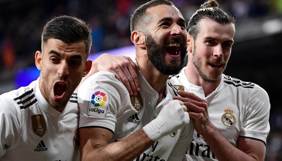 AVGJORDE: Karim Benzema reddet Real Madrid fra flause. Foto: Javier Soriano / AFP / NTB Scanpix