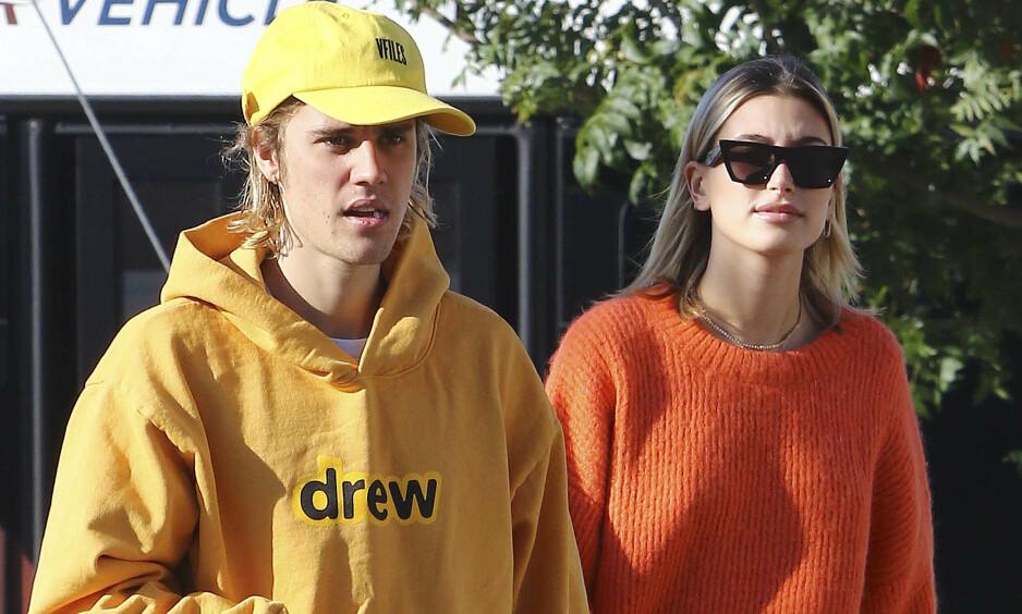 VEKKER OPPSIKT: Forrige uke delte Justin Bieber et nytt bilde av kona Hailey. Det er har fått mange til å sperre opp øynene. Foto: NTB Scanpix