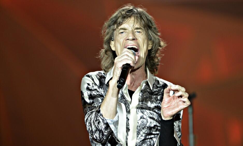 OPERERES DENNE UKA: The Rolling Stones fra konserten i Telenor Arena for fem år siden. Mick Jagger skal hjerteopereres. Foto Hans Arne Vedlog