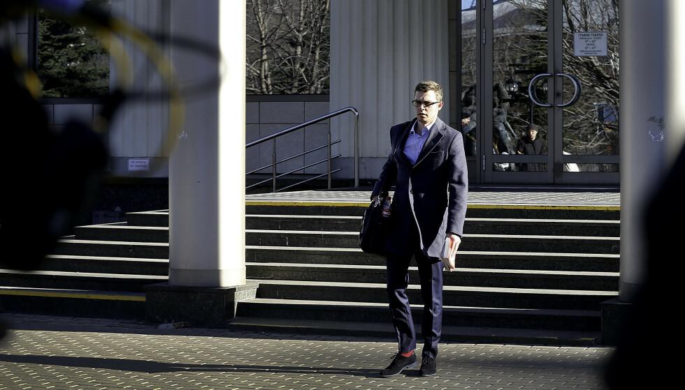 ADVOKAT: Pjotr Anaskin, kollega av Frode Bergs advokat, Ilja Novikov, måtte stille i fengslingsmøtet i dag. Han sier at Frode Berg er optimist og vil hjem. Foto: Jesper Nordahl Finsveen / Dagbladet