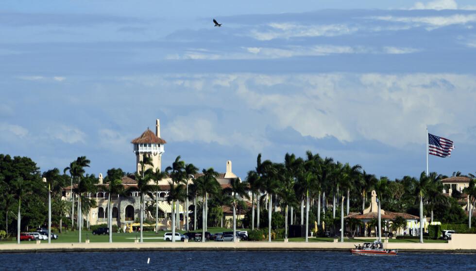 TOK SEG INN: iDonald Trumps eiendom i Mar-a-Lago i Florida. En kvinne er pågrepet for å ha tatt seg inn på golfbanen uten lov. Foto: AP / NTB scanpix