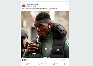 OGSÅ POGBA: Yerba Mate Norge postet dette bilde av Manchester Uniteds Paul Pogda - drikkende på Yerba Mate.