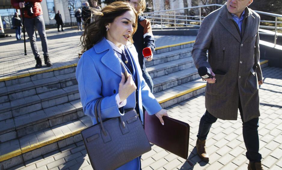 OBERST: Milana Digajeva er kvinnen som skal få den spiontiltalte nordmannen Frode Berg dømt. Hun avviser å snakke med norsk presse. Foto: Henning Lillegård
