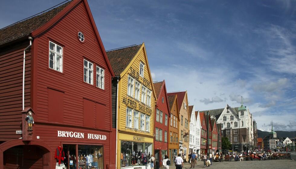 ÅRETS VARMESTE?: I dag kan Bergen få den varmeste dagen hittil i år. Foto:Mike Kipling/The Travel Library/NTB Scanpix