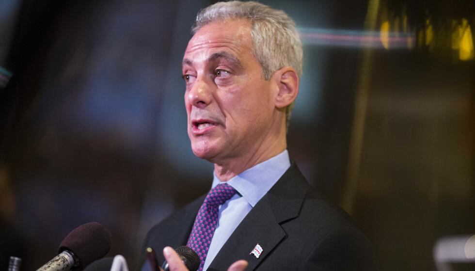 IKKE OVER: Chicagos borgermester Rahm Emanuel varsler søksmål mot Jussie Smollett. Foto: NTB scanpix