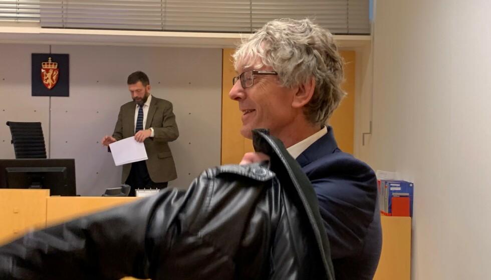 ANKER: Etterforskningsleder i Spesialenheten, Knut Wold, under fengslingsmøtet fredag ettermiddag. Foto: Nicolai Eriksen / Dagbladet