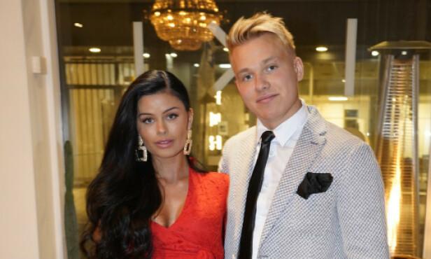HAR STENGT PROFILEN: Sofie Karlstad har stengt profilen blant annet for å holde haters unna. Her er hun med Erik Sæter. Foto. TV 2