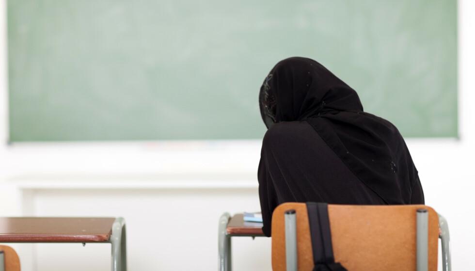 HIJAB I SKOLEN: Spaltist Jarl Wåge vil ikke ha religiøse symboler i skolen. Foto: Michael Jung / Shutterstock / NTB Scanpix