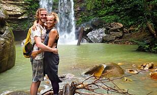 EVIG FERIE: Tina og kjæresten lever nå et enkelt liv og har egen YouTube-kanal. Foto: Privat