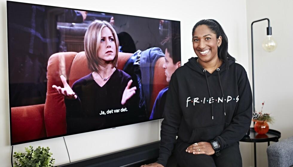 VENNERS VENNER: TV2-sportens Siri Nilminie Avlesen-Østli (34) kan de fleste replikkene i «Friends» utenat. Foto: Geir Dokken