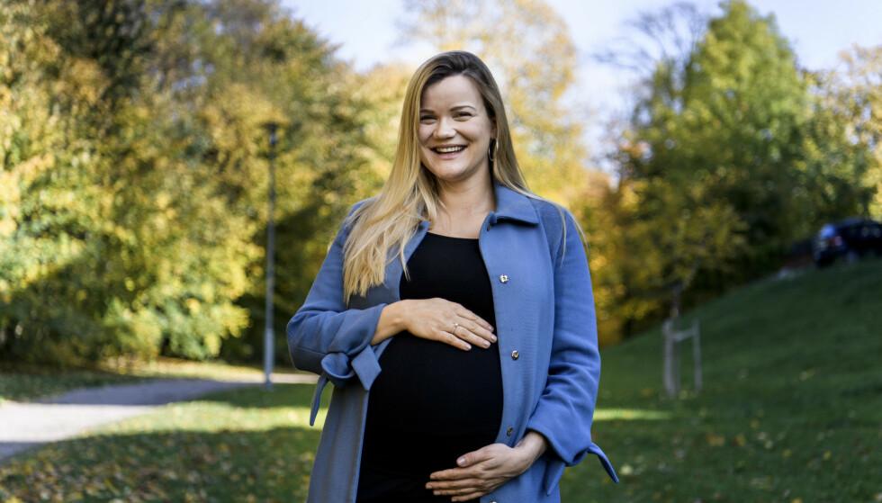MAMMA: I oktober ble Sandra Lyng mamma for første gang. De første månedene ble imidlertid mer utfordrende enn forventet. Foto: Lars Eivind Bones / Dagbladet