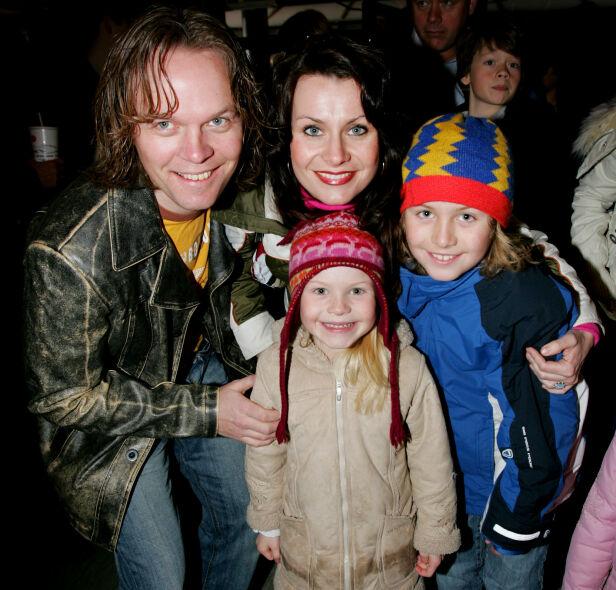 DEN GANG DA: Katrine og ektemannen sammen med barna Markus og Evelina i 2006. Foto: NTB Scanpix