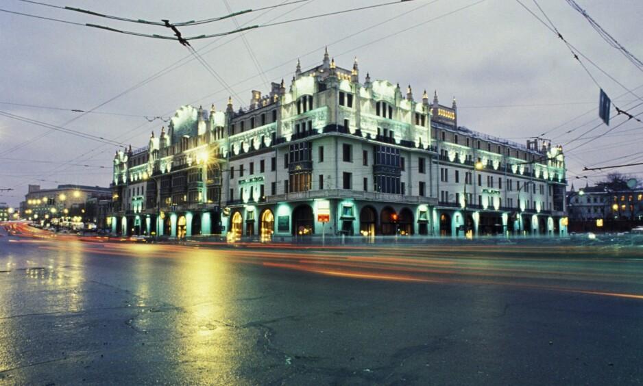 FORNEMT: Metropol Hotel er fortsatt på plass i Moskva, sentralt beliggende ikke langt fra Bosjoi-teatret. Foto: NTB Scanpix
