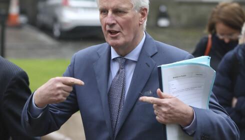 FORHANDLER: Franske Michel Barnier har ledet EUs delegasjon til forhandlingene med Storbritannia om brexit. Foto: AP / NTB scanpix