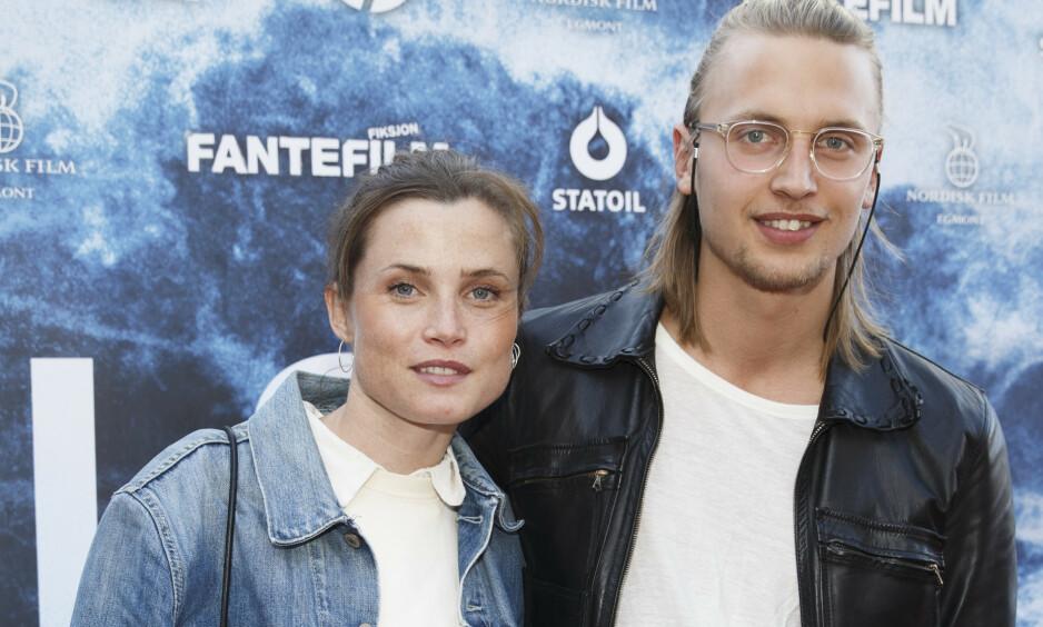 VENTER BARN: Gitte Witt og hennes svenske forlovede, Filip Loebbert, blir foreldre igjen. Foto: NTB Scanpix
