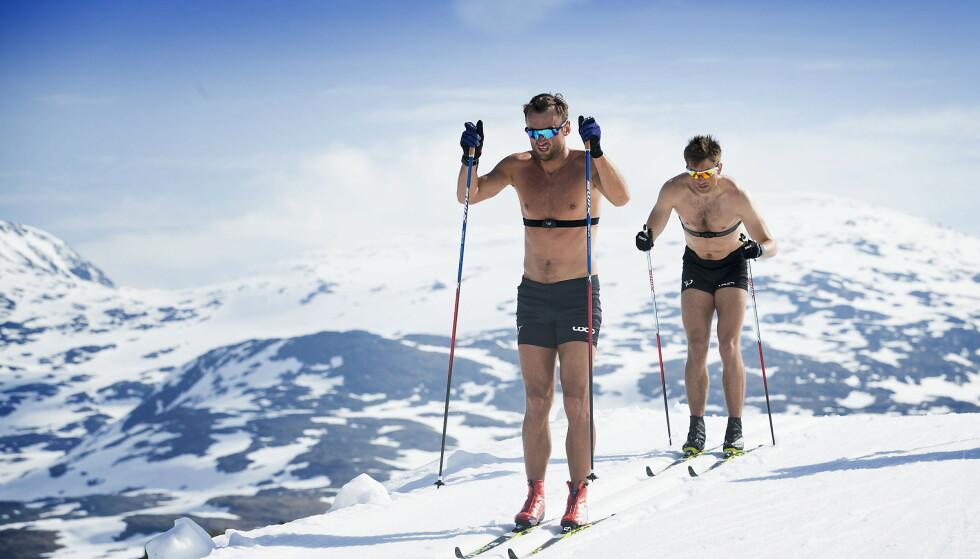 TRENING I VARMEN: Petter Northug på Sognefjellet. Foto: Bjørn Langsem/Dagbladet