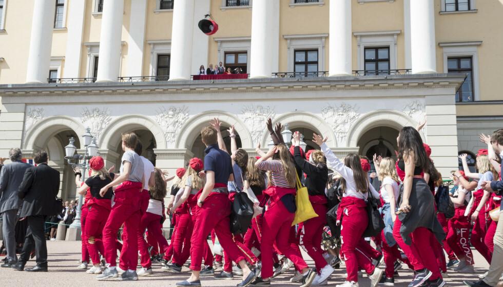 RUSS: Russen på Slottsplassen 17. mai. 2018. Foto: Terje Pedersen / NTB scanpix