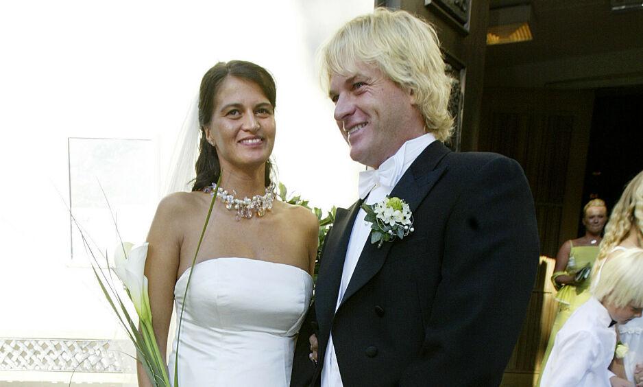 SKILLES: Morten Borg og Celine Maktabi går fra hverandre etter 15 års ekteskap. Foto: NTB scanpix
