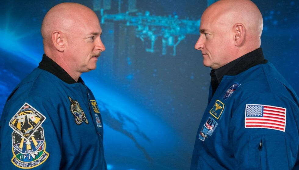 TVILLINGBRØDRE: Mark og Scott Kelly er identiske tvillinger. Foto: Nasa