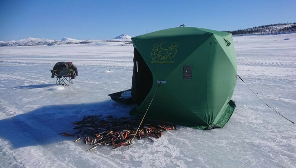 «RJUKAN ELVIS»: For Gryberg er isfiske en livstil. Foto: Privat