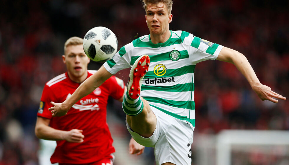 TIL CUPFINALE: Kristoffer Ajer og Celtic. Foto: Reuters/Jason Cairnduff