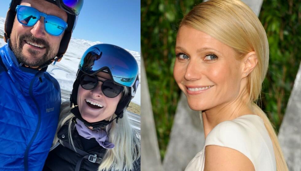 «UKJENT» VENNSKAP: Hollywood-stjerna Gwyneth Paltrow er en nær venn av kronprinsparet, noe vi fikk bevis på i kveld - da hun kom med en offentlig hilsen til paret. Foto: Instagram / NTB scanpix