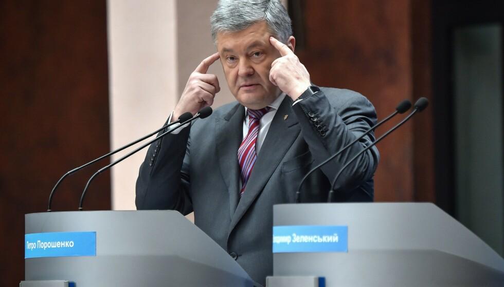 SELVSKUDD FRA ALLE KANTER?: Ukrainas president Petro Porosjenko. Foto: AFP / NTB Scanpix
