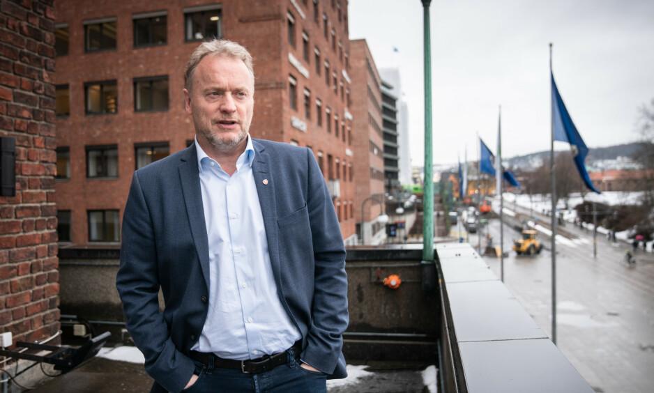 BYRÅDSLEDER: Byrådsleder Raymond Johansen (Ap) vil fjerne kontanstøtten i utvalgte bydeler i Oslo. Foto: Øistein Norum Monsen / Dagbladet