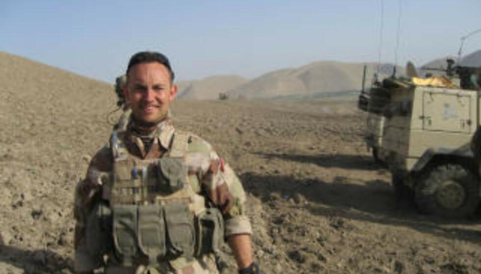 I FELT: Trond Petter Kolset i Afghanistan. Foto: Forsvaret.