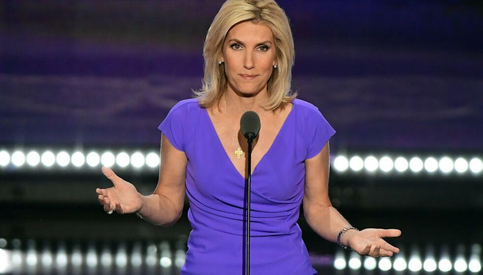 OMSTRIDT: Den amerikanske tv-personligheten Laura Ingraham (55) har blitt gjenstand for krass kritikk den siste tida. Det er derimot ikke første gang hun har havnet i skuddlinjen. Foto: NTB Scanpix