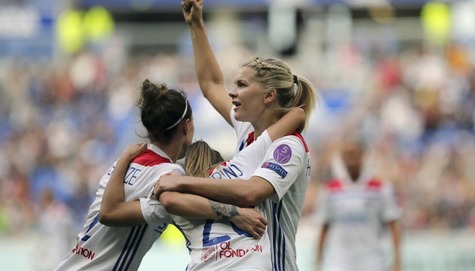 AVANSERTE: Uavgjort holdt til avansement for Lyon og Ada Hegerberg. Foto :AP Photo / Laurent Cipriani / NTB Scanpix