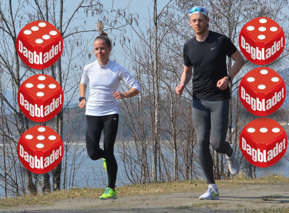LØPETID: Hanne Mjøen Maridal er en av våre beste langdistanseløpere og blir trent av Ingrid Kristiansen.  Hun har sammen med maratonløper Simen Næss Berge testet seks løpetightser for Dagbladet. Begge løper mye, gjerne to ganger for dag, så plaggene har fått kjørt seg både på trening, og i vaskemaskinen. FOTO: Kristin Roset
