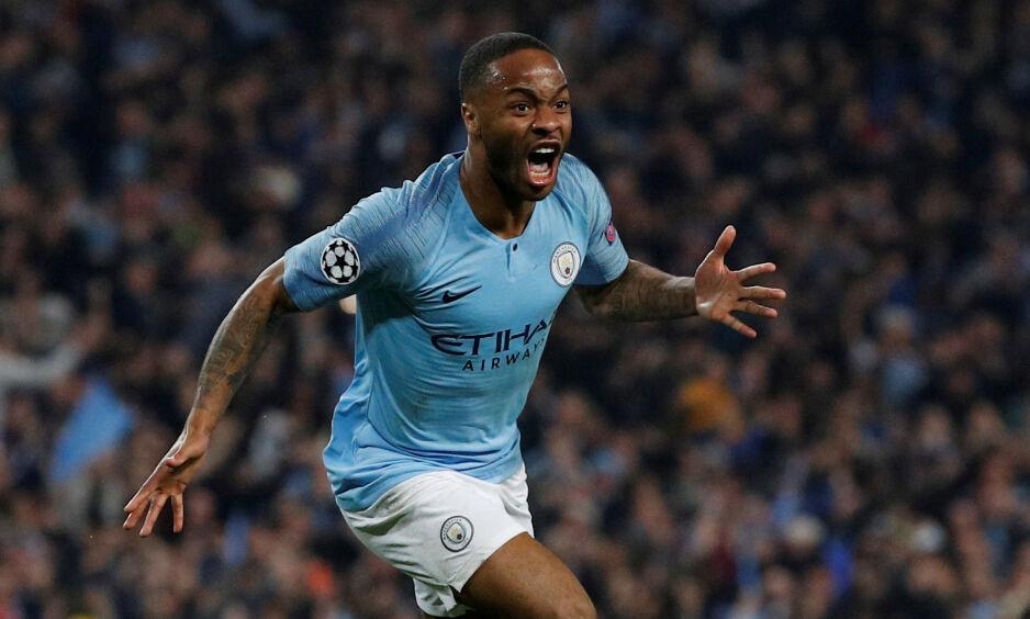 ÅRETS SPILLER: Manchester Citys Raheem Sterling. Foto:        REUTERS/Phil Noble/NTB Scanpix