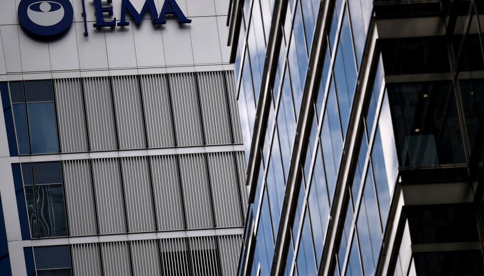 EMA: Hovedkvarteret til Europeiske legemyndigheter. De trekker nå tilbake kreftmedisin. Foto: Hannah McKay / Reuters /NTB Scanpix