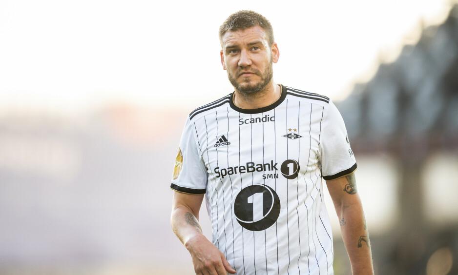 ANGRER IKKE: Nicklas Bendtner har likt seg godt i Rosenborg, som møter Rørvik i cupen i dag. Foto: Ole Martin Wold / NTB scanpix