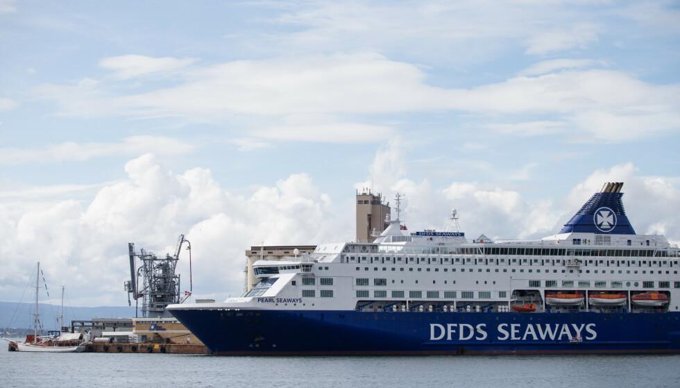 CRIUSESKIP: MDG-topper vil avvikle den fossilbaserte cruisetrafikken i Norge. Her ligger DFDS Seaways til kai i Oslo. Foto: NTB Scanpix