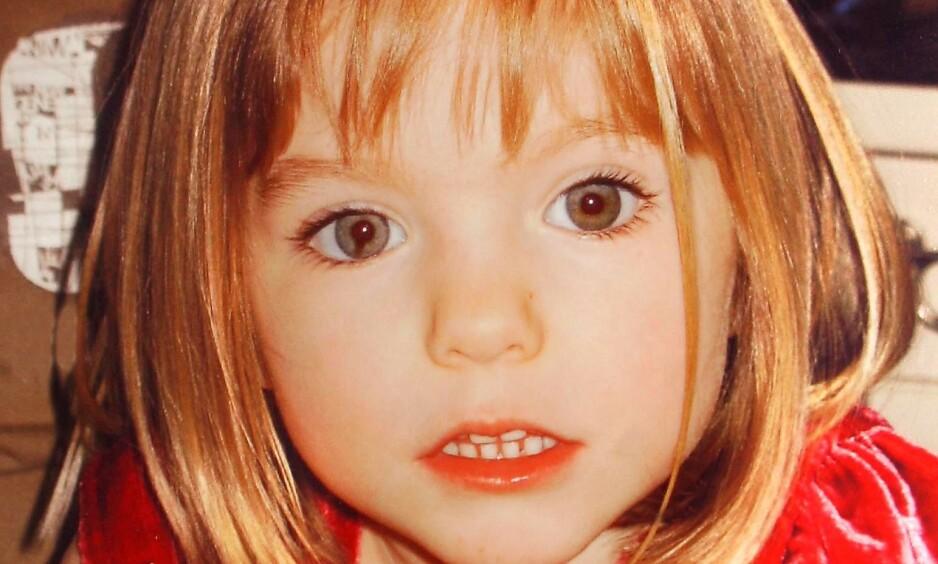 FORSVANT: Britiske Madeleine McCann forsvant i Portugal i 2007. Nå skriver lokale medier at politiet undersøker en ny mistenkt. Foto: REX Shutterstock / NTB Scanpix