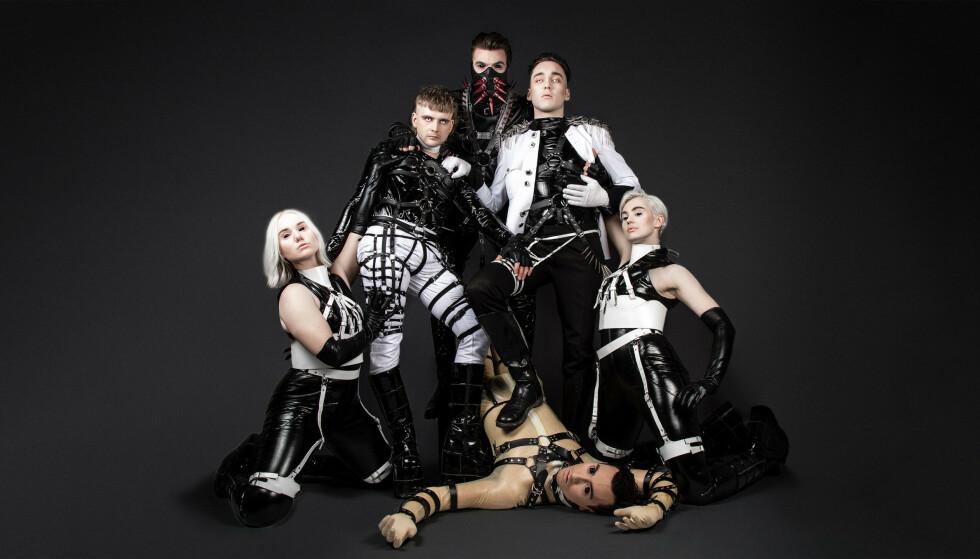 KONTROVERSIELLE: Det islandske bandet Hatari kaller seg et antikapitalistisk, sadomasochistisk teknoband, og truer med å markere seg politisk mot Israel. Foto: Eurovision.tv