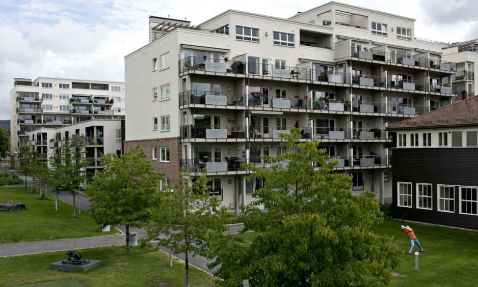 FRYKTER: Oslo Senior Høyre frykter det verste. Ja til en balansert byutvikling med kvalitet, men stopp rå-fortettingen nå, skriver innsender. Bilde fra nybyen Løren ved Økern i Oslo. Foto: NTB Scanpix