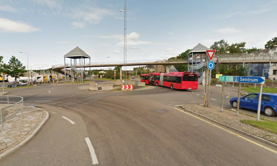 BLE STOPPET: Disputten endte på Hjortneslokket i Oslo, der politiet sto og ventet. Arkivfoto: Google Street View