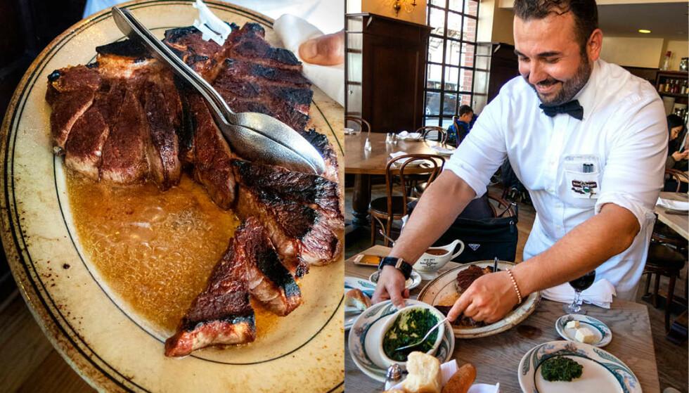 BIFFKATEDRALEN: Pilegrimer har Peterskirken. Kjøttelskere har Peter Luger Steakhouse i New York.