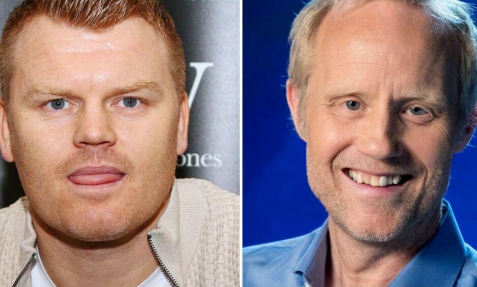 GOD DISKUSJON: John Arne Riise og Øyvind Alsaker var begge i Liverpool for TV 2 tirsdag. Foto: NTB scanpix