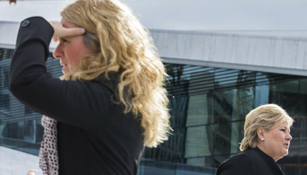 UFØRE: Det har vært en dramatisk økning i antallet unge uføre de siste ti årene. Arbeidsminister Anniken Hauglie og statsminister Erna Solberg får mye av skylden, under henvisning til endringene i reglene for arbeidsavklaringspenger. Foto: Mariam Butt / NTB scanpix