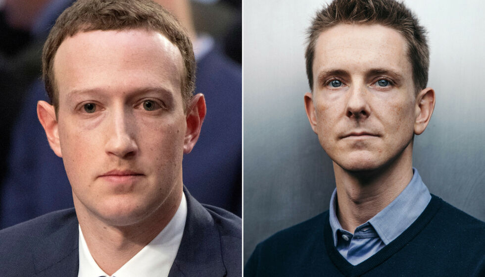 RADIKALT FORSLAG: Facebook-sjef Mark Zuckerberg er under press. En av medgrunnleggerne av Facebook, Chris Hughes, mener det er på tide at selskapet splittes av amerikanske myndigheter. Foto: Rex Shutterstock og Damon Winter / The New York Times