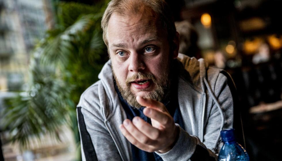 PROVOSERT: Rødts Mimir Kristjánsson ble forbanna da han hørte hva justisminister Jøran Kallmyr (Frp) sa i en tale på frigjøringsdagen. Foto: Christian Roth Christensen / Dagbladet