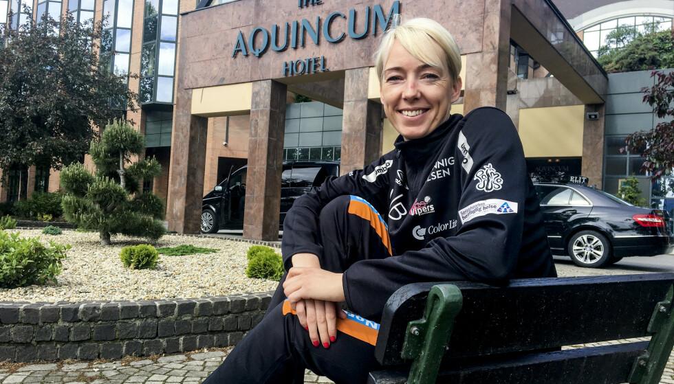 NEKTER Å GI SEG: Katrine Lunde, her på plass i Budapest. Foto: Espen Hartvig / NTB scanpix