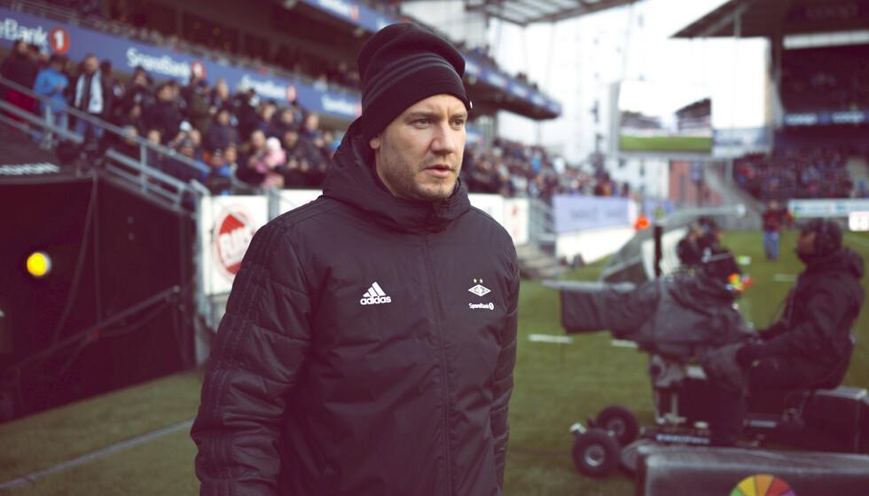 VRAKET: Nicklas Bendtner måtte bli igjen i Trondheim da Rosenborg gjestet Åråsen lørdag kveld. Foto: NTB/Scanpix