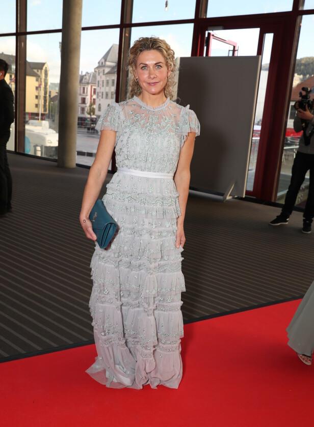 FLOTT: Cecilie Skog hadde valgt å låne framfor å kjøpe årets Gullruten-kjole. Foto: Andreas Fadum
