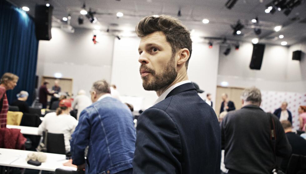 TAPTE KOMMUNISME- STRID: Bjørnar Moxnes tapte voteringen om kommunisme-begrepet i Rødts prinsipprogram. Foto: Frank Kalsen