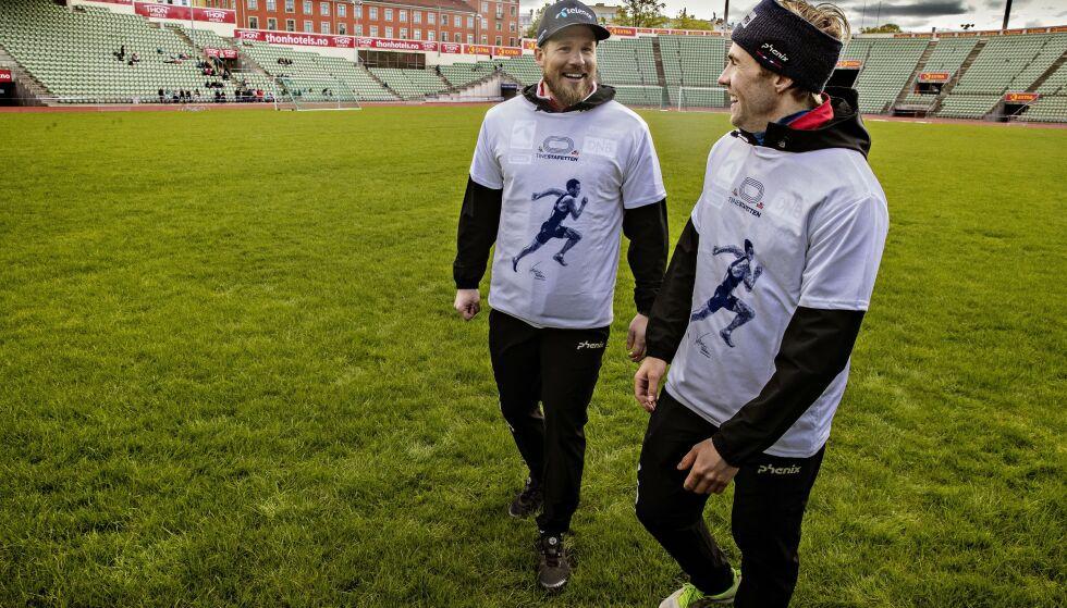 KLAR TALE: Kjetil Jansrud og Aleksander Aamodt Kilde ønsker å få på plass trenere og opplegg raskt. Foto: Bjørn Langsem